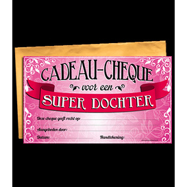 Gift Cheque Super Dochter