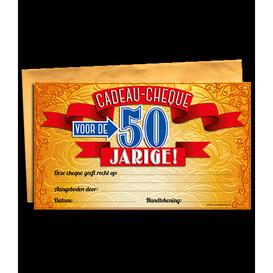 Gift Cheque 50 jaar