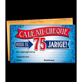Gift Cheque 75 jaar