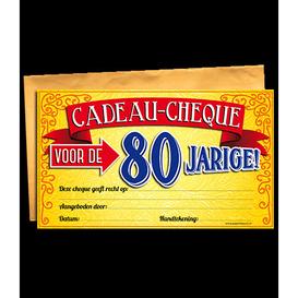 Gift Cheque 80 jaar