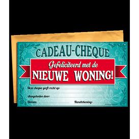 Gift Cheque Nieuwe Woning