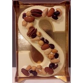 Decorletter wit met noten 240 gram