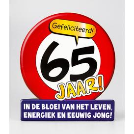 Wenskaart 65 jaar verkeersbord