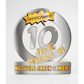 Wenskaart 10 jaar getrouwd