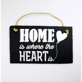 Stone Slogan Home is where the heart is