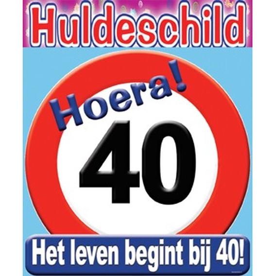 Huldeschild 40 jaar