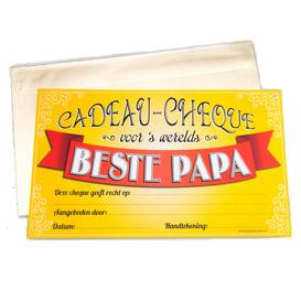 Gift Cheque Beste Papa