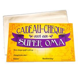 Gift Cheque Super Oma