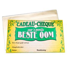 Gift Cheque Beste Oom