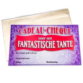 Gift Cheque Fantastische Tante