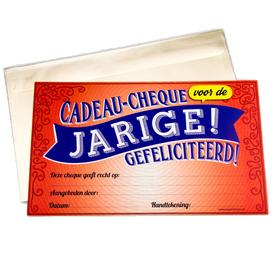 Gift Cheque Jarige