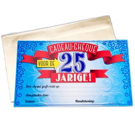 Gift Cheque 25 jaar