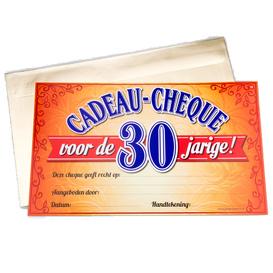 Gift Cheque 30 jaar