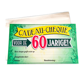 Gift Cheque 60 jaar