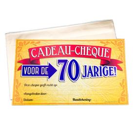 Gift Cheque 70 jaar