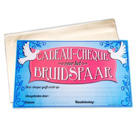 Gift Cheque Bruidspaar