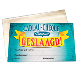 Gift Cheque Geslaagd