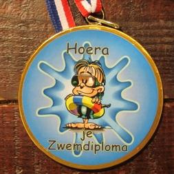 Medaille zwemdiploma plas