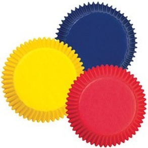 Baking cups Primary Colors
