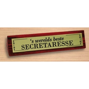 Desk sign Beste secretaresse