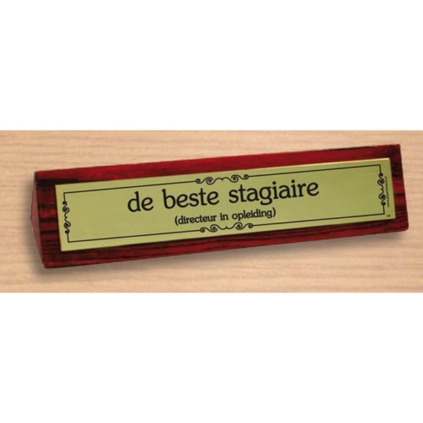 Desk sign De beste stagaire