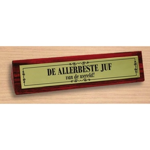 Desk sign De allerbeste juf