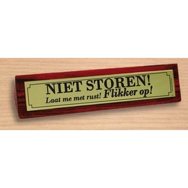 Desk sign Niet storen!