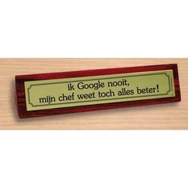 Desk sign Google en chef