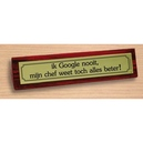 Desk sign Google en chef