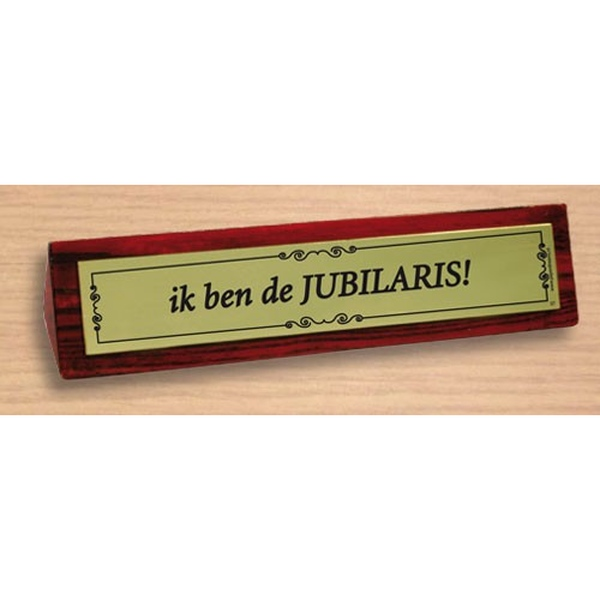 Desk sign Jubilaris