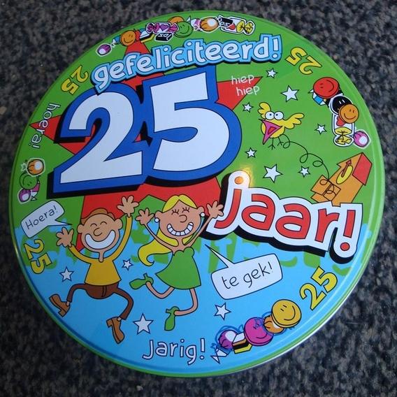 Snoepblik 25 jaar