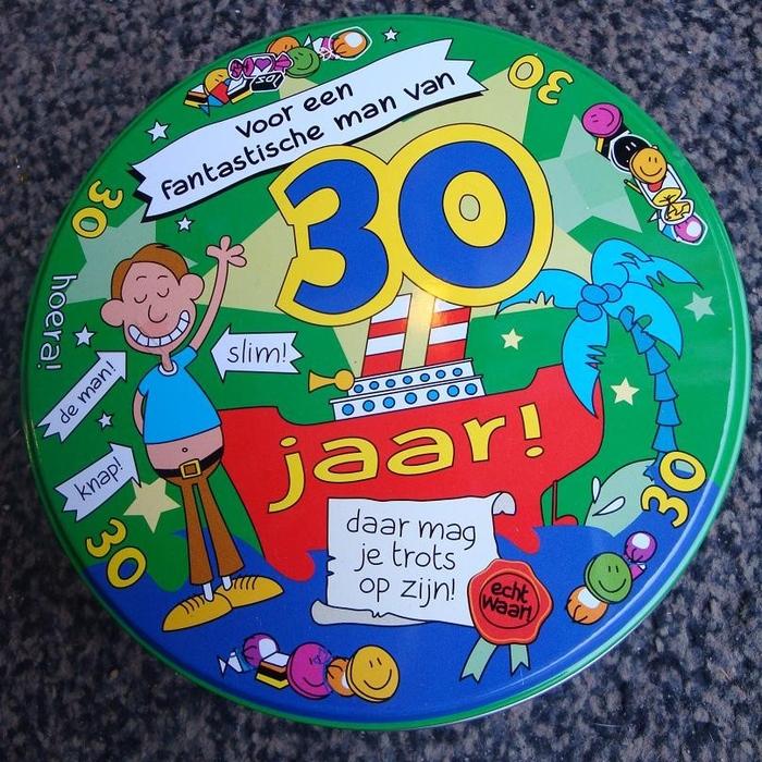 verjaardag 30 jaar man Snoepblik 30 jaar man   Topsnoep.nl verjaardag 30 jaar man