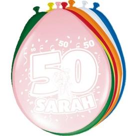 Ballonnen 50 jaar Sarah