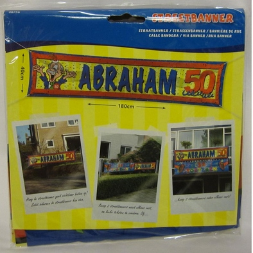 Streetbanner Abraham 50 jr
