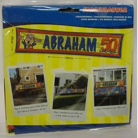 Streetbanner Abraham 50 jaar