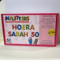 Opblaasletters Hoera Sarah 50