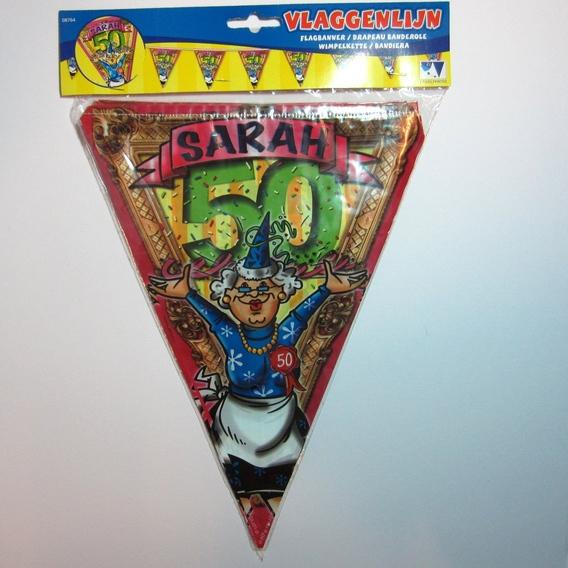 Vlaggenlijn Sarah 50 jaar