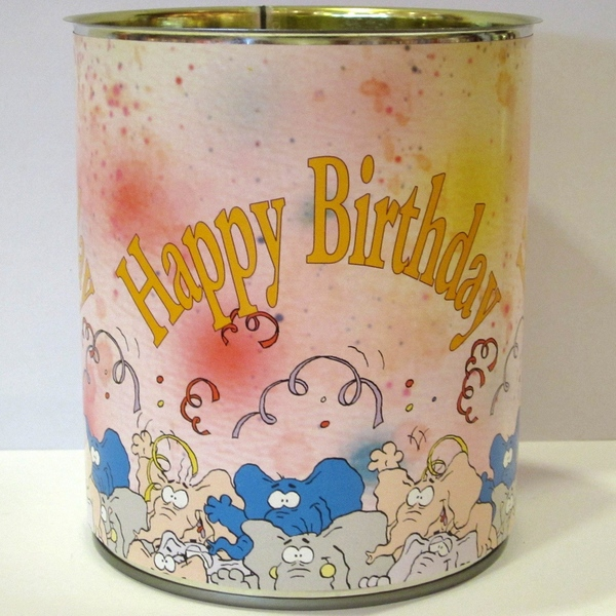Blik Happy birthday olifanten