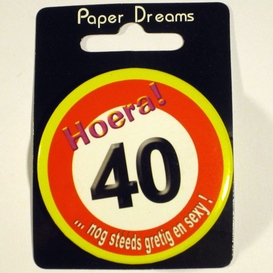 Button Hoera 40