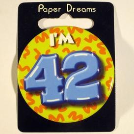 Button I'm 42