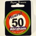 Button Hoera 50 Abraham