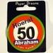 Button Hoera 50 Abraham