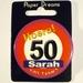 Button Hoera 50 Sarah