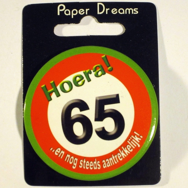 Button Hoera 65