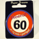 Button Hoera 60
