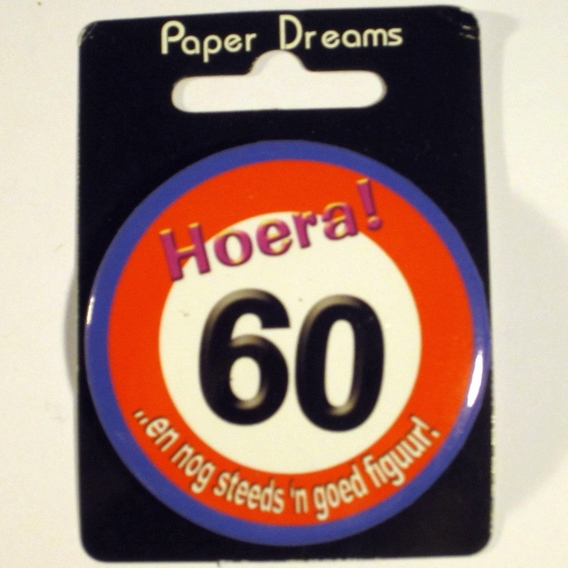 Button Hoera 60