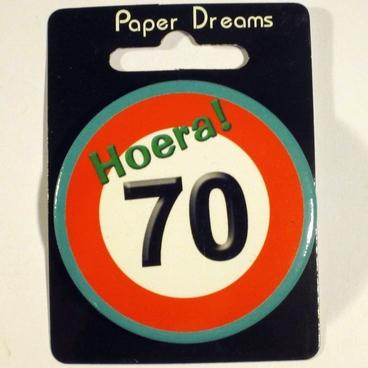Button Hoera 70