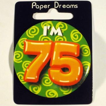 Button I'm 75