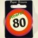 Button Hoera 80