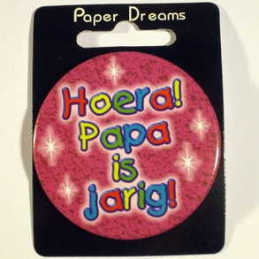 Button Hoera Papa is jarig